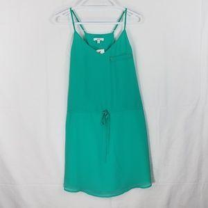 Norah Aqua Sheer Mini Dress